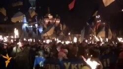 Смолоскипний марш на честь Степана Бандери у Києві