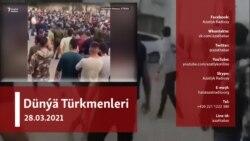 Eýran türkmenleri çagalary zorlamakda aýyplanýan adamyň jezalandyrylmagyny talap edip protest geçirdi
