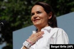 Contracandidata dictatorului din Belarus, Svetlana Tihanovskaia