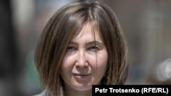 Джамиля Маричева, журналист, редактор паблика PROTENGE. Алматы, 14 апреля 2021 года.
