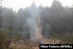 В Найстенъярви сгорели несколько заброшенных домов