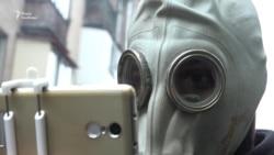 Забіг у протигазах у Запоріжжі – відповідь на марафон від меткомбінату (відео)