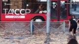 В Казани затопило улицу