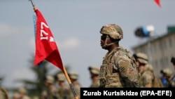 """Американски војник на воените вежби """"Благороден партнер 2020""""во Грузија"""