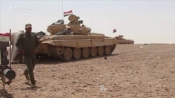 Iraqi Tank Unit Clears Mines On Road To Mosul
