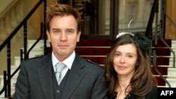Юън Макгрегър и бившата му жена Ийв Мавракис, 28 юни 2013 г.