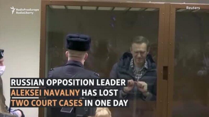 Navalny Fined, Prison Sentence Upheld In Two Legal Losses