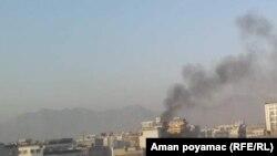 آرشیف: دود برخواسته از انفجار در کابل