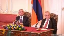 Государственный визит президента Армении в Чешскую Республику