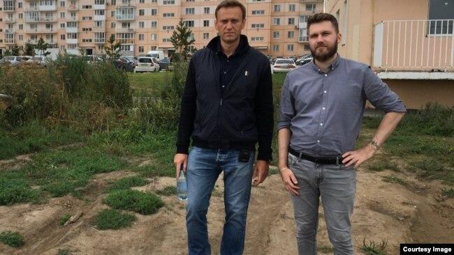 Алексей Навальный и Даниил Маркелов