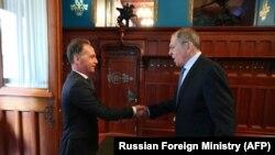 Встреча Лаврова и Мааса в Москве 11 августа