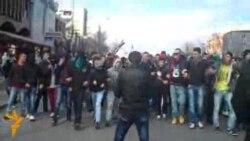 Протест на млади Албанци во Скопје