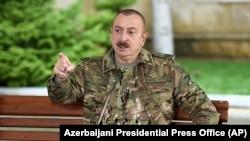 Президент Азербайджана Ильхам Алиев. Баку, 11 ноября 2020 года.
