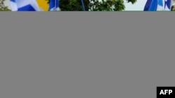 Шотландиянын көз карандысыздыгын жактагандардын жүрүшү. Глазгов, 14-сентябрь, 2014-жыл.