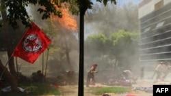 انفجار در شهر سوروچ در ترکیه؛۲۸ کشته و ۱۰۰ زخمی