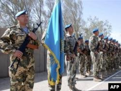 Ирактағы миссиясын аяқтаған қазақстандық сарбаздар Бағдадтан 150 шақырым жердегі Дельта лагерінде. 20 қазан 2008 жыл