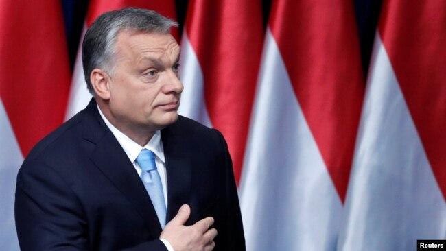 Виктор Орбан жолдау жасаған сәт. Будапешт, 11 ақпан 2019 жыл.