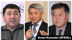 Қырғызстандық саясаткерлер (солдан оңға қарай) Эрнест Карыбеков, Бектур Асанов және Кубанычбек Кадыров.