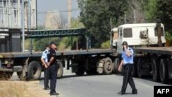 Блокираниот граничен премин Блаце на македонско-косовската граница.