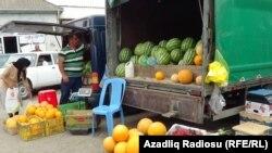 Bazar, Azərbaycanın cənub regionu, iyul, 2016