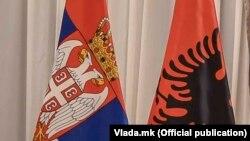 Zastave Srbije i Albanije
