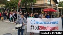 Protesti u Požegi protiv aktuelne vlasti traju preko godinu dana