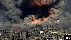 Дим від авіаударів Ізраїлю по Смузі Гази, 29 липня 2014 (архівне фото)