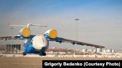 2012 жылы желтоқсанда апатқа ұшыраған Ан-72 әскери ұшағының суреті. 25 қараша 2012 жылы Алматыда Григорий Беденко түсірген.