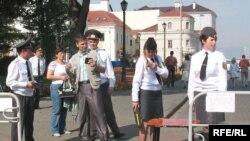 Сьвяточны КПП ў Верхнім горадзе.