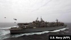 به گفته آمریکا، پهپاد ایرانی از روی عرشه ناو باکسر هدف گرفته شده است