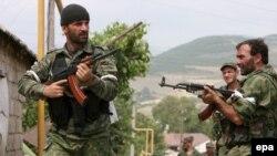 В грузинских селах на территории Южной Осетии можно встретить только вооруженных осетинских бойцов