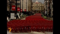 Empty Chairs Pay Tribute To Sarajevo Victims