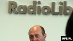 Трајан Баисеску во посета на Радио Слободна Европа