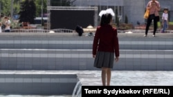 Мектеп окуучусу, Бишкек.