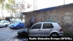 Изгорени 11 автомобили во Куманово