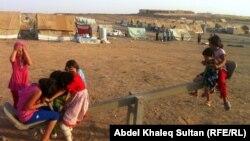 في مخيم للنازحين السوريين في دهوك