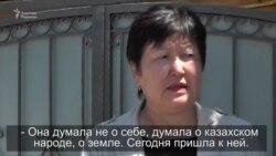 Мать арестованной активистки выражает ей поддержку