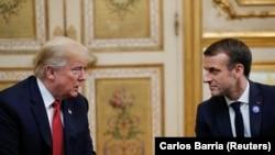 Donald Trump Emmanuel Macron u Jelisejskoj palati 10. novembra 2018.