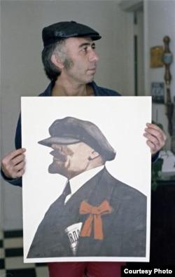 Бахчанян со своей работой