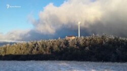 Плато Ай-Петри посыпало снегом (видео)