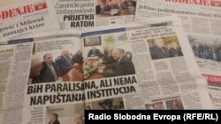 Natpisi u novinama o novoj krizi