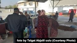 Custom is scarce at Jalal-Abad's walnut markets.