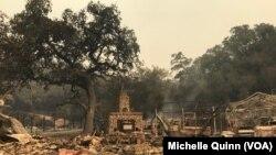 Prizor nakon požara, listopad 2017.