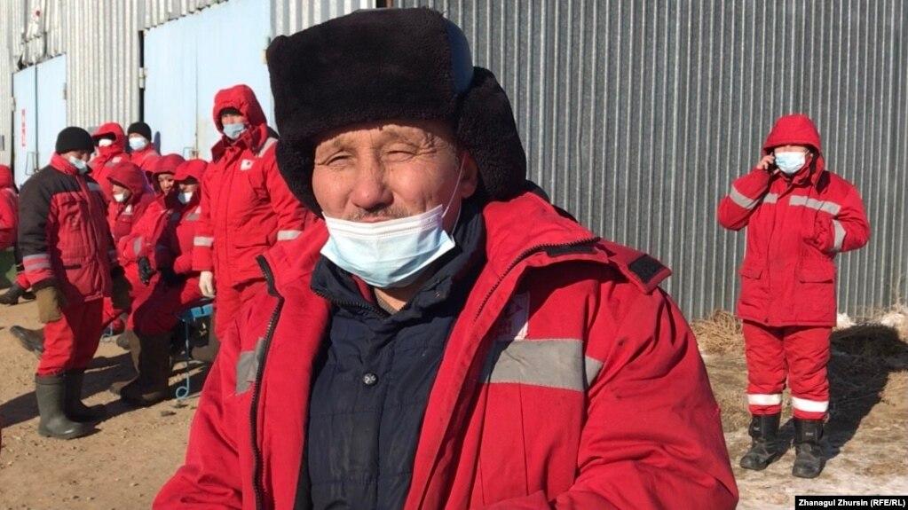 Забастовка рабочих нефтяной компании «KMK Мунай» на месторождении Кокжиде в Актюбинской области. 27 января 2021 года.