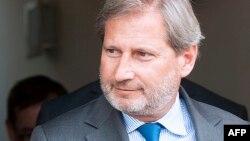 Комиссар Евросоюза по вопросам расширения Йоханнес Хан.