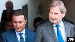 Nikola Gruevski i Johanes Ham u Briselu 10. juna 2015