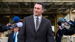 Nikola Gruevski ispred suda u Skoplju