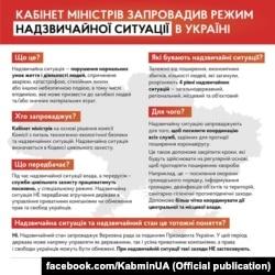 Роз'яснення основних засад режиму надзвичайного стану від Кабінету міністрів України