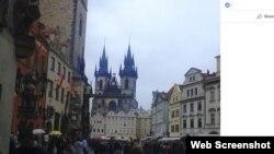 Фотографија од Прага, наводно, направена од Анатолиј Чепига на 11 октомври 2014 година