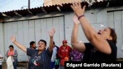 Участники каравана мигрантов в Мексике. 28 апреля 2018 года.